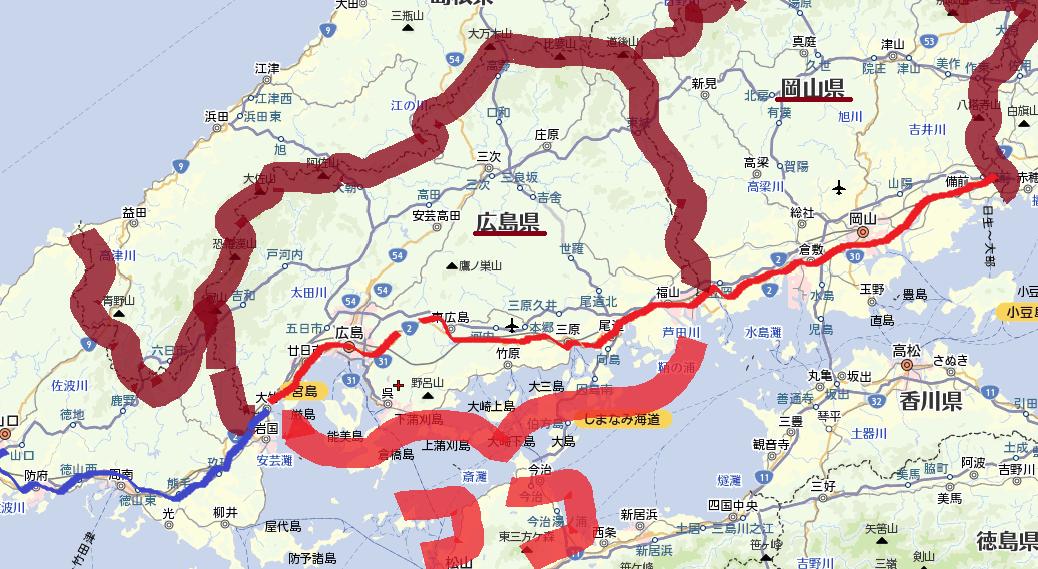 広島の地図