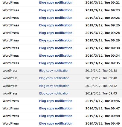 ブログの記事を大量にコピーされた